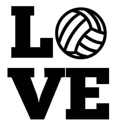 Personalized Volleyball Love Iron On Decal Vinyl By