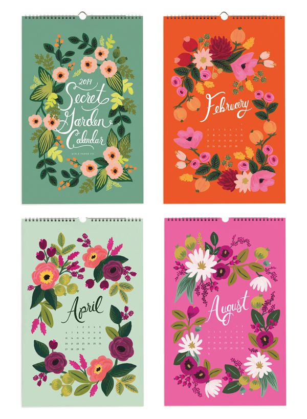 2014 Secret Garden Calendar Rifle Paper Company
