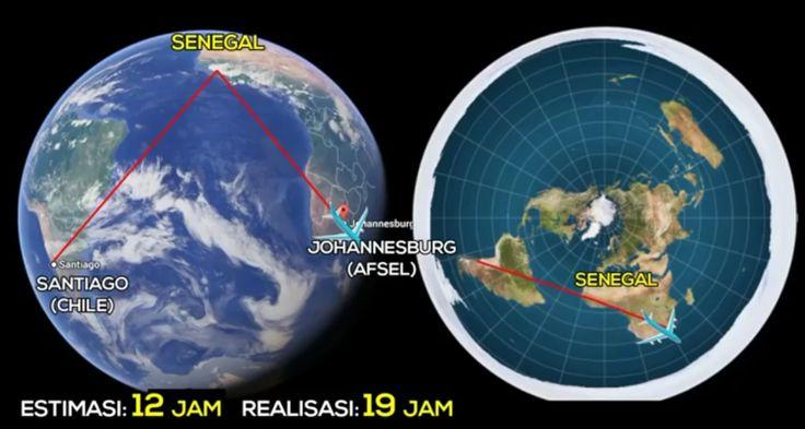 """USGS mengatakan bahwa """"Peta bumi datar merupakan dasar yang paling akurat untuk membuat peta Atlas AS, untuk menentukan arah penerbangan dan arah antena"""""""