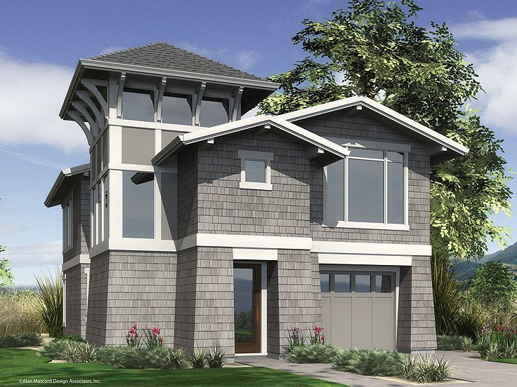 35 best images about contemporary house plans on pinterest for Coastal craftsman house plans