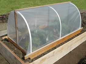 Build a portable garden cloche  Protect newly planted beds and seedlings - extend the growing season!