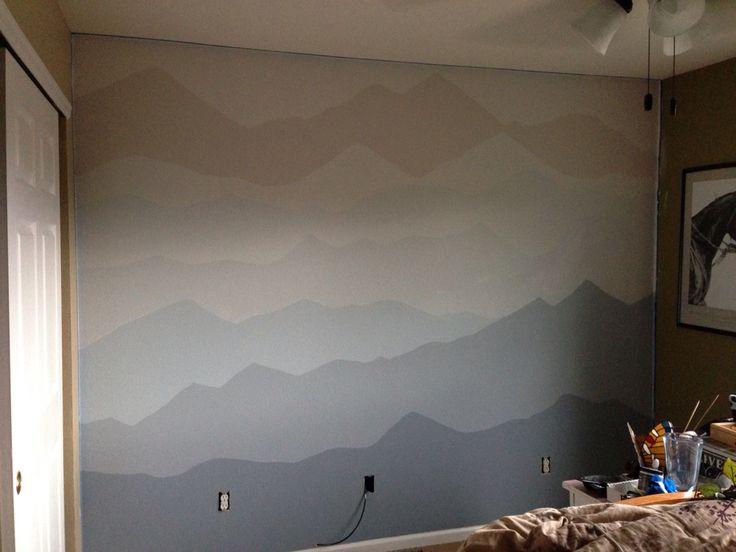 Rocky mountain bedroom mural diy pinterest rocky for Diy mountain mural