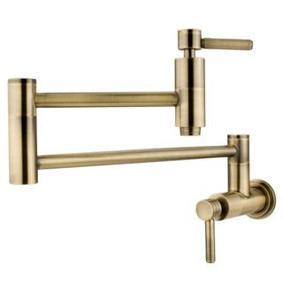Concord Antique Brass Pot Filler Faucet | Overstock.com Shopping - Great Deals on Kitchen Faucets