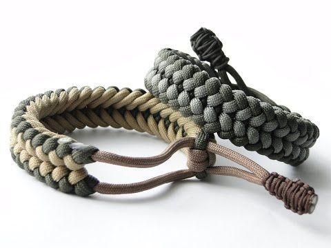 "How to Make a ""Mad Max Style"" Sanctified Paracord Bracelet-Bonus:Cobra/King Cobra ending knot - YouTube"