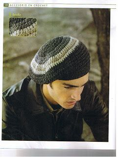 Crochet con amor: Boina de varón con tutorial.