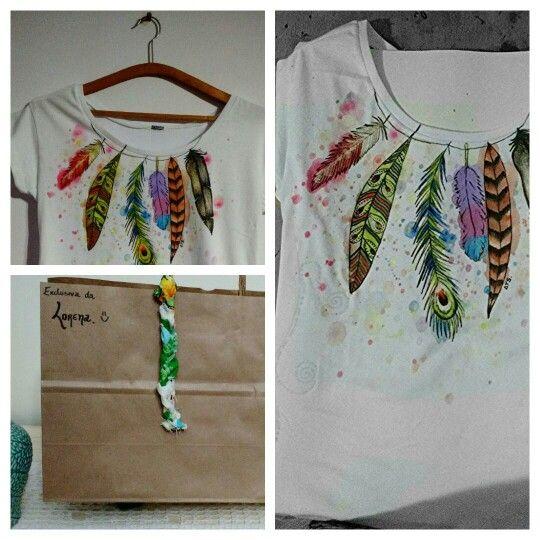 Blusa linda exclusiva! Encomende a sua também! ;) #ateliertaisschiavini #arte #feitoàmão