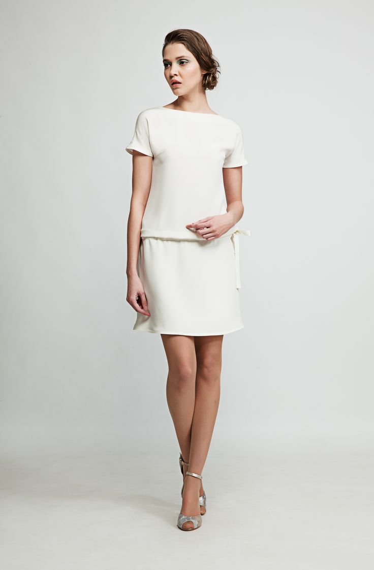Perfect for sun-soaked days, this airy dress is made of finest Cady couture silk. It features side pockets and looks especially good if you get your date to wear matching shoes. www.marimofashion.com