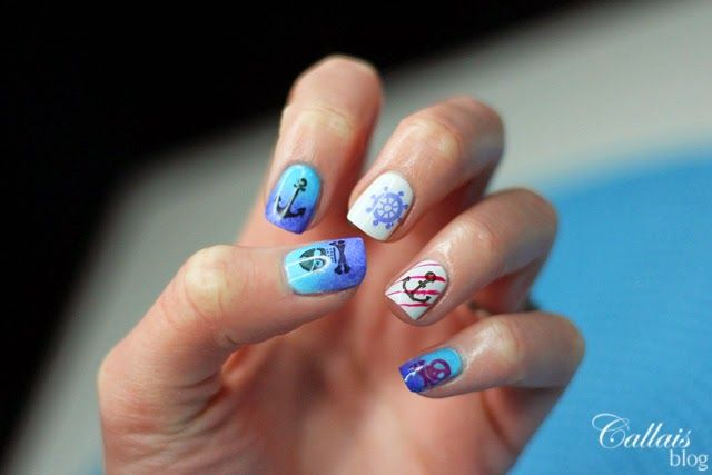 Summer nail art, marine style, Nails by Callais, @smarlifestylepl