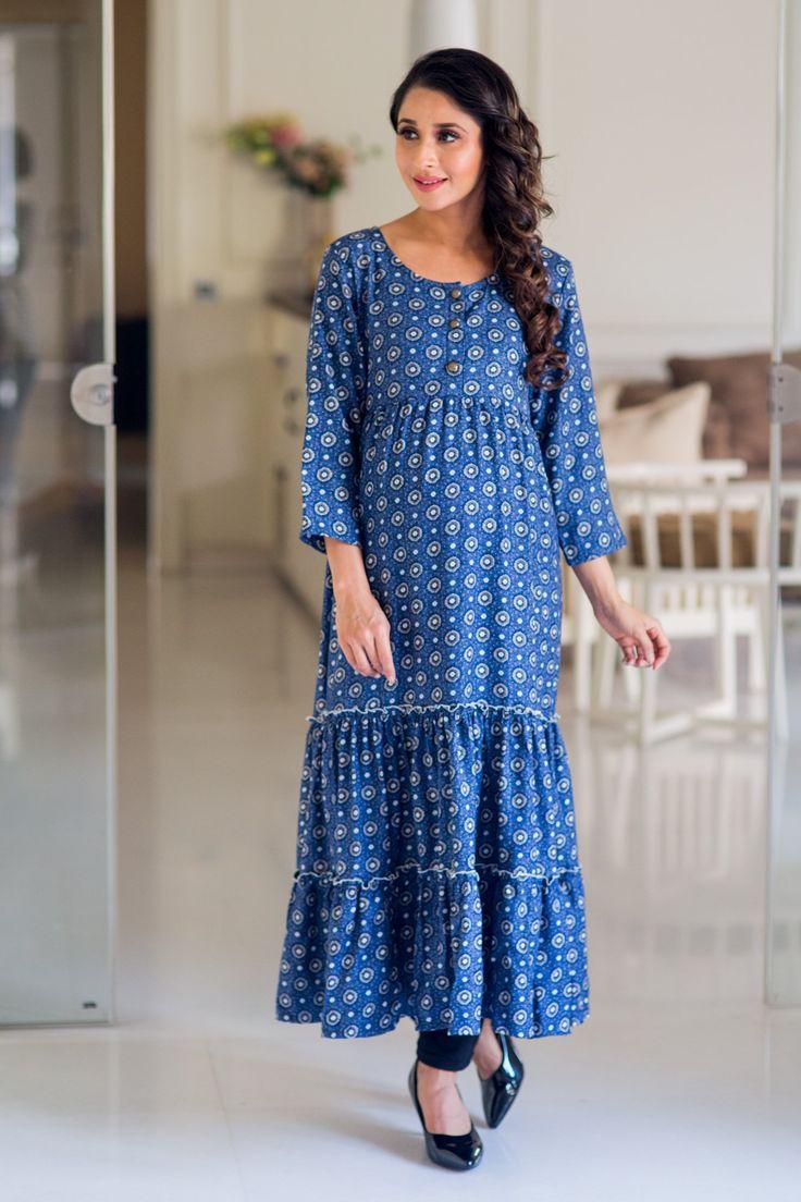 Moonlight Layered Long Maternity and Nursing Kurta Dress