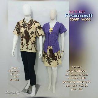 Baju Batik Kerja Wanita, Grosir Batik Solo, Baju Batik Pria: Sarimbit Batik, Baju Batik Couple, Katun Embos