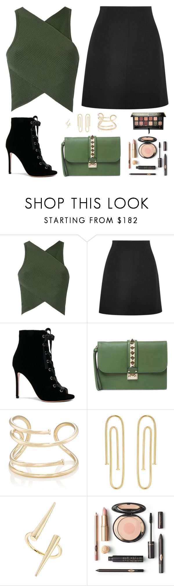 """""""Untitled #5116"""" by mdmsb on Polyvore featuring EGREY, Chloé, Gianvito Rossi, Valentino, Jennifer Fisher and Anastasia Beverly Hills"""