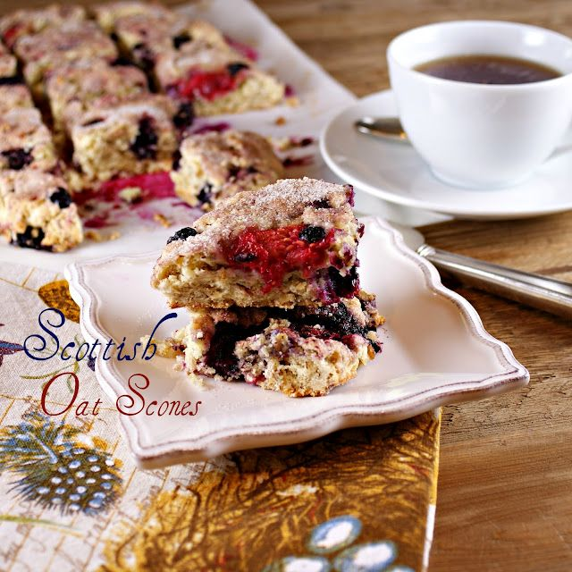 Scottish Oat Scones (stuffed) with Berries @Patty Price/Patty's Food
