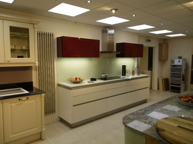 commercial kitchen lighting natural and electric color and surfaces