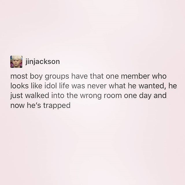 OKAY BUT THIS IS ME WITH KPOP LIFE I DIDNT ASK FOR THIS - Name the member from your bias group that is like this - Leo and Woozi for me -