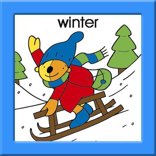 Kalenderkaartje winter- Pompom