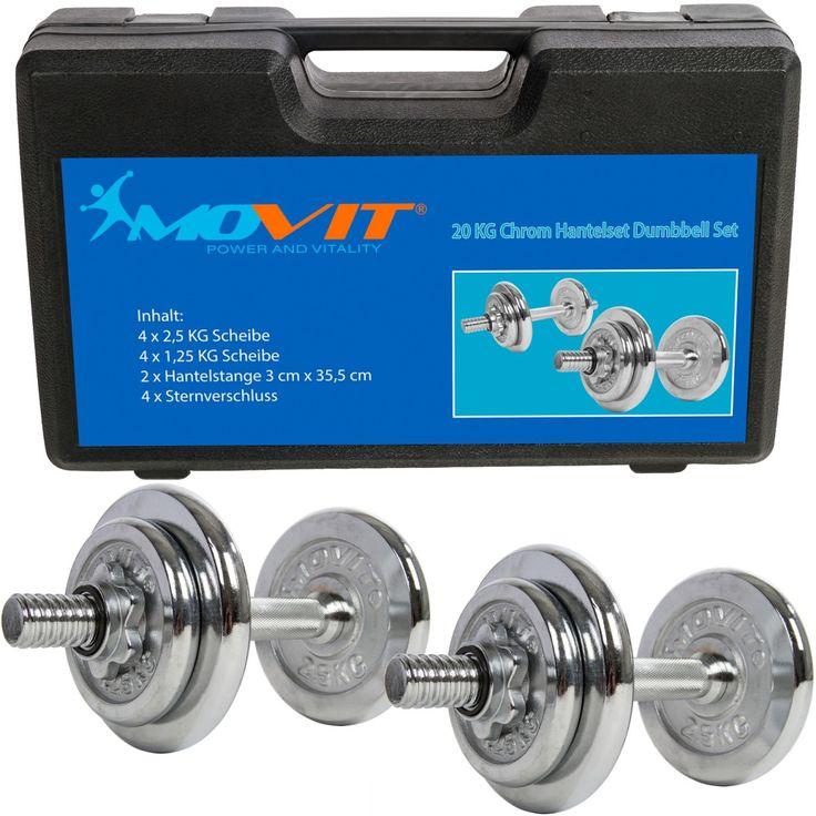 MOVIT® 20 kg Chrom Kurzhantel Set im Koffer #Fitness #Body #Power #Hantel #Challenge #atHome #Competition #Yoga #Training #Beast #Beastmode #Abs #Transformation #Motivation #Gym #Sports #Equipment #Exercise #Movit