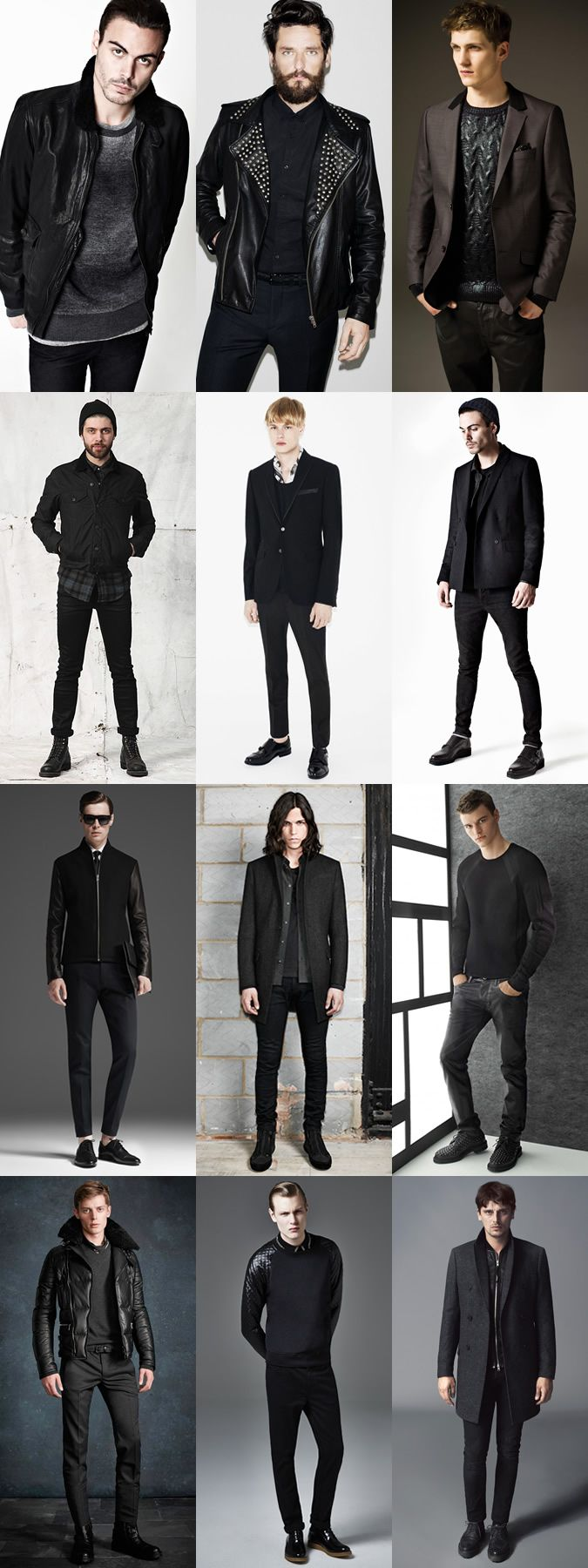 Men's All Black Outfit Inspiration Lookbook