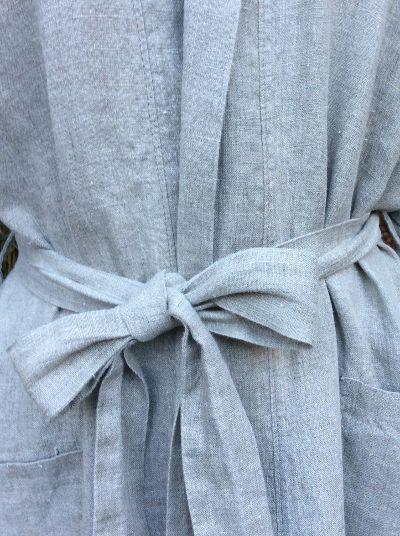 Linen Bathrobe | Limited Edition - Le fil rouge Textiles