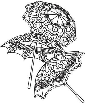 Delicate Parasols and other steampunk style embroidery.