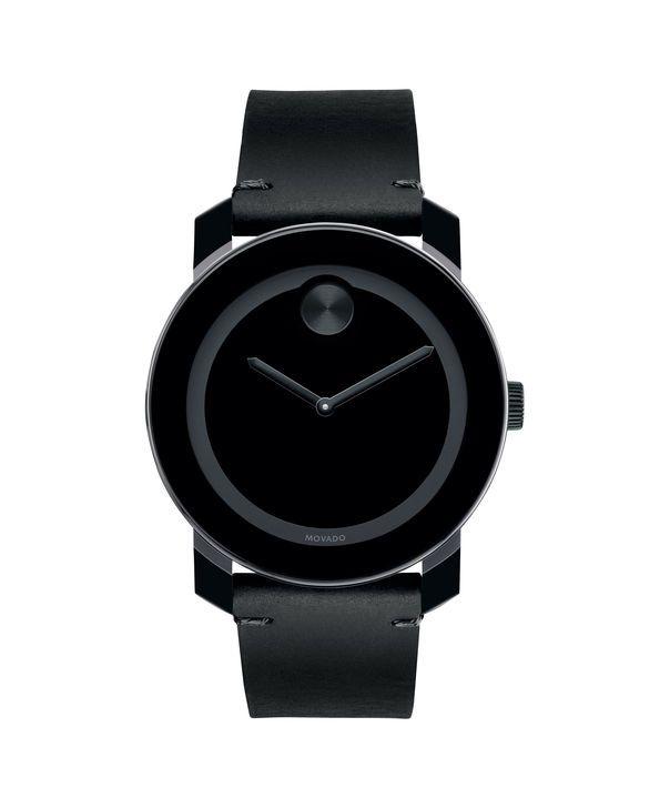 Large Movado BOLD watch, 42 mm black TR90