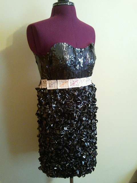 Made from a vhs tape and old movie tickets! Made by Broken Pins