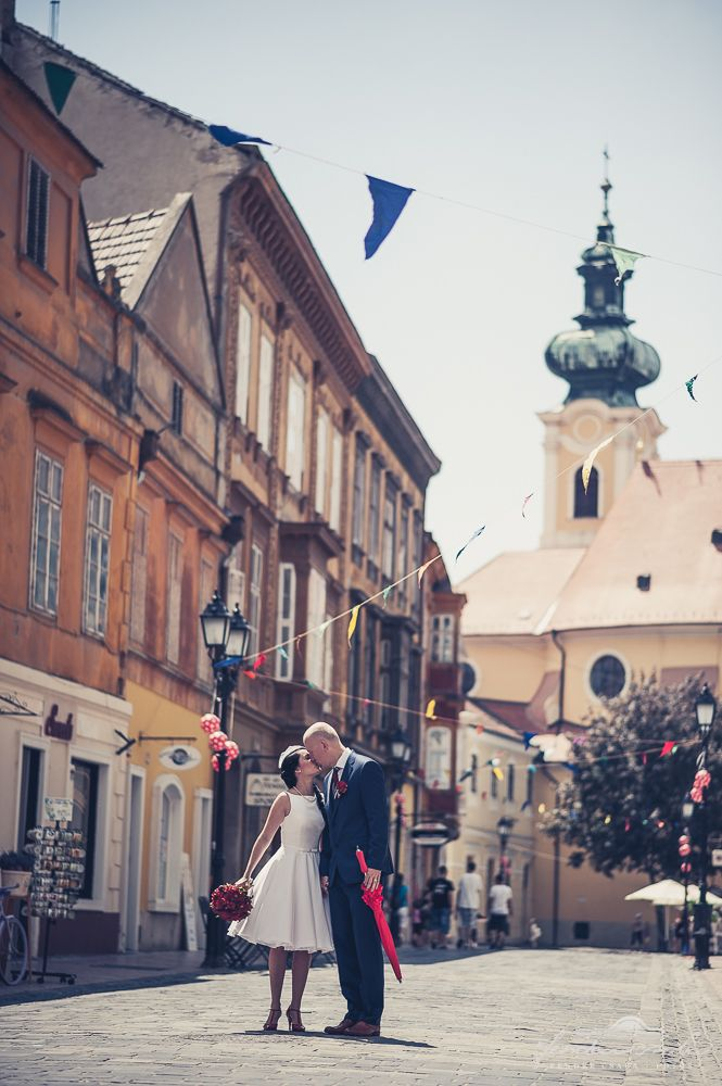 red wedding on the streets of our beatiful city Győr, Hungary