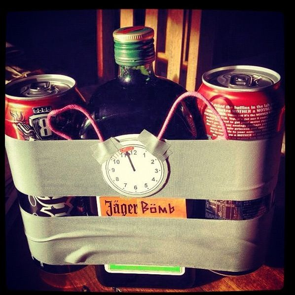 21st birthday gift. Jäger Bomb! I would use Red Bull instead!