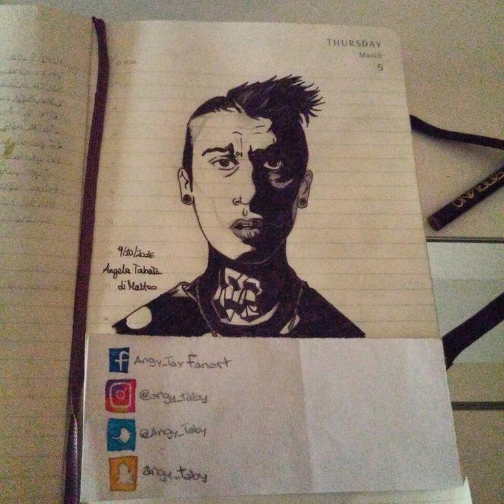 Fedez by me #fanart #drawing #singer #rapper #fedez #cosodisegnato #inktober