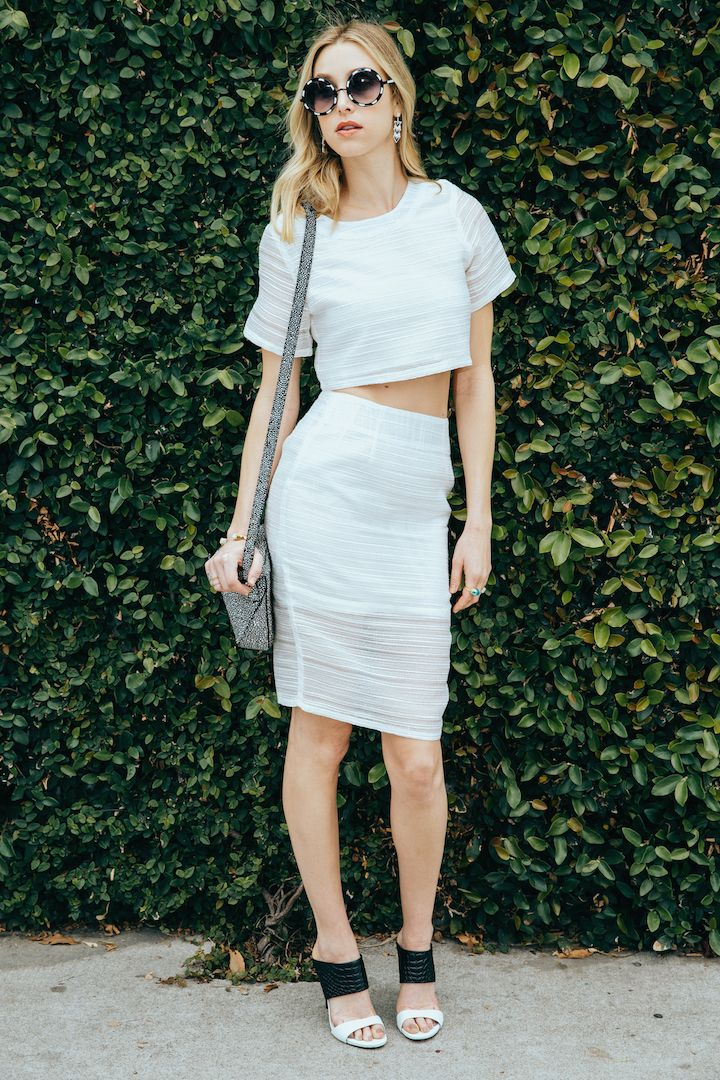White Hot Summer Style: Whitney Port rocks sexy white two piece from the Whitney Eve Summer 2015 collection