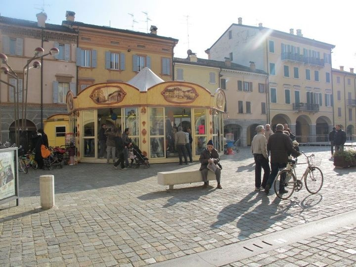 Piazza Garibaldi, Carpi, Modena, Italy