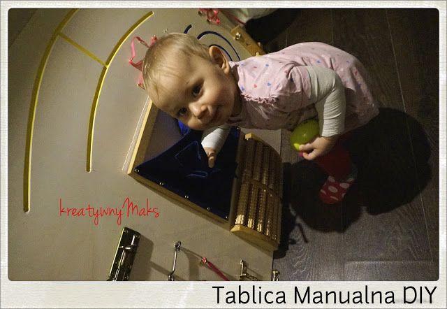"""kreatywnyMaks: Moje maluszki testują naszą """"Tablicę Manualną DIY""""..."""