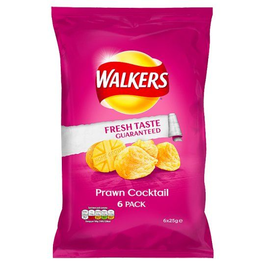 Walkers Prawn Cocktail Crisps 6X25g - Groceries - Tesco Groceries