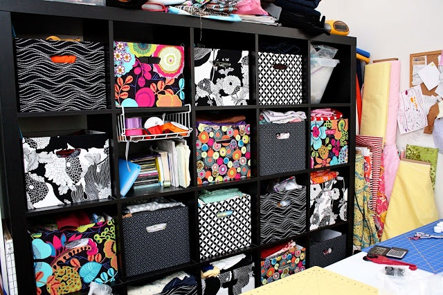 Ikea Expedit Fabric Covered Boxes Tutorial - Rae Gun Ramblings (great idea to beautiful boxes on a budget to go in ikea shelves)
