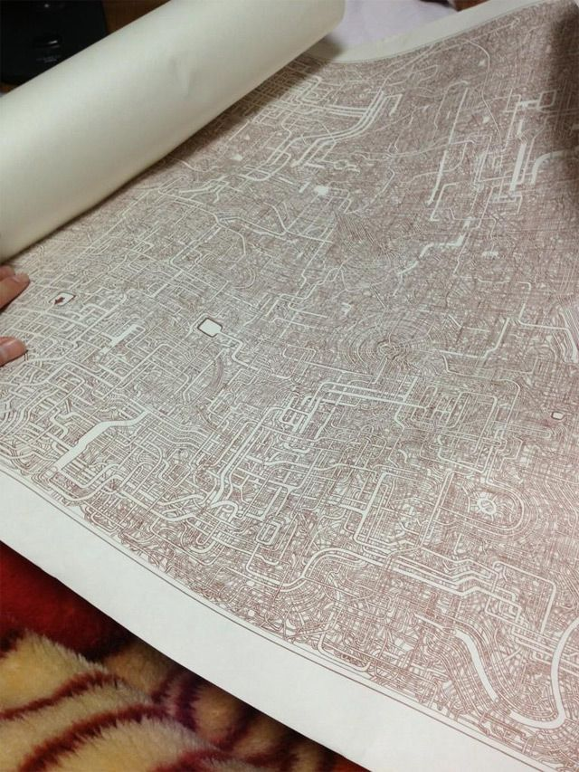 Some people cook in their spare time, others play sports. This man decided to draw a maze ... FOR 7 YEARS.