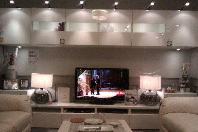 Tv 252 Nitesi Ikea Besta Home Style En 2019 Tv Wall Decor