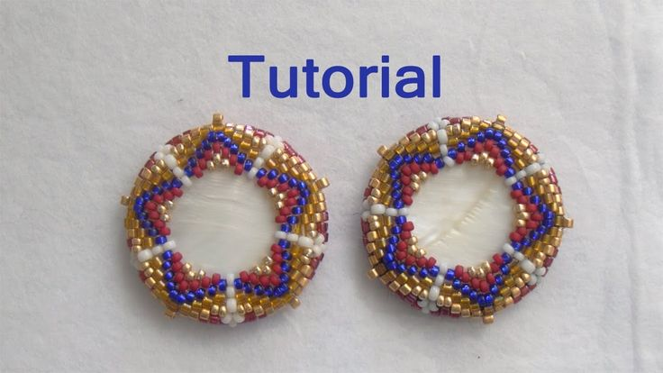 BeadsFriends: Beaded bezel tutorial - How to bezel a disc with beads (Pe...