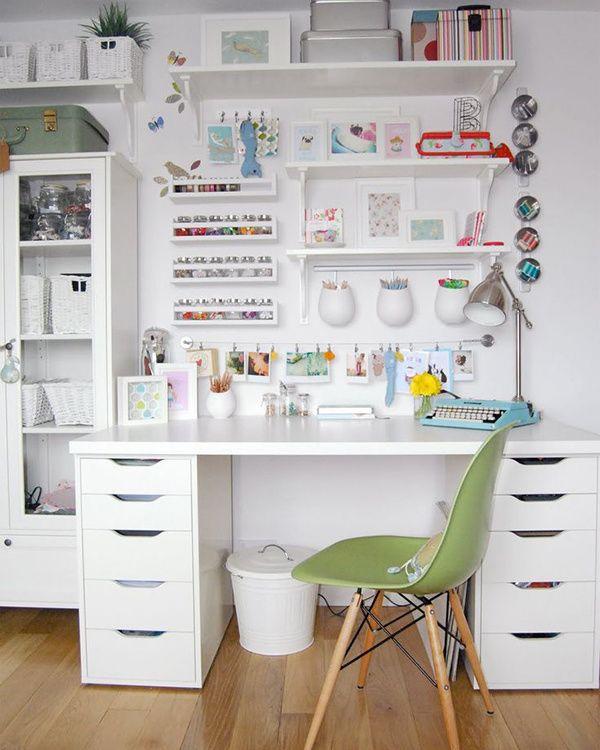 10 proyectos que organizan tu casa y cambian tu vida for Bureau en pin ikea