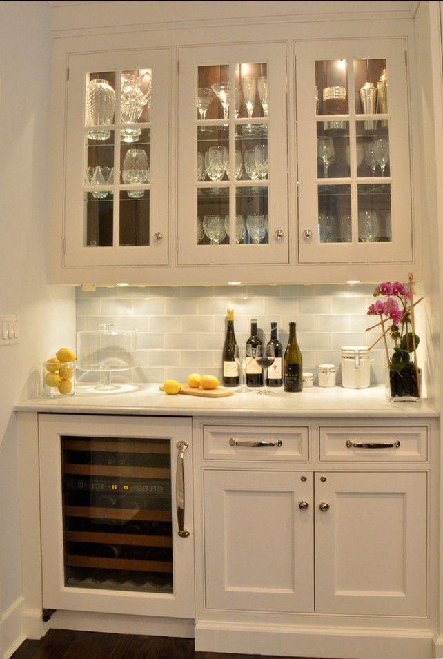 Desk Bar Pantry Built In Kitchen Cabinets