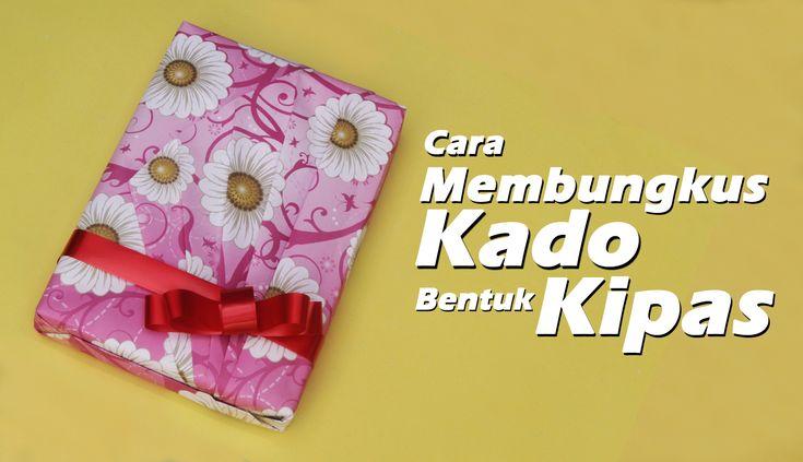 Cara Membungkus Kado Unik Bentuk Kipas/ How to a wrap a unique gift