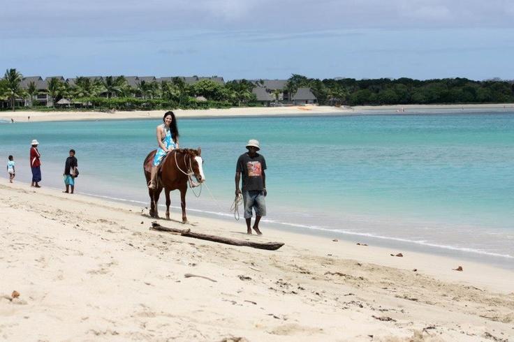 Horse riding on Natadola beach