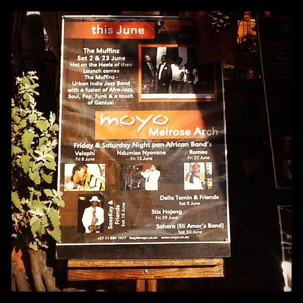 What's on at moyo Melrose Arch - June 2012