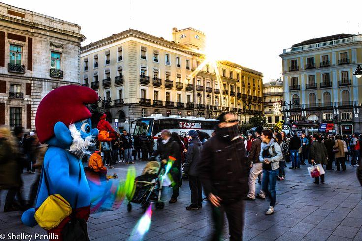 Pitufo en Puerta del Sol