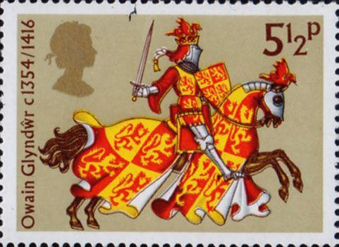 Great Britons 5.5p Stamp (1974) Owain Gyndwr
