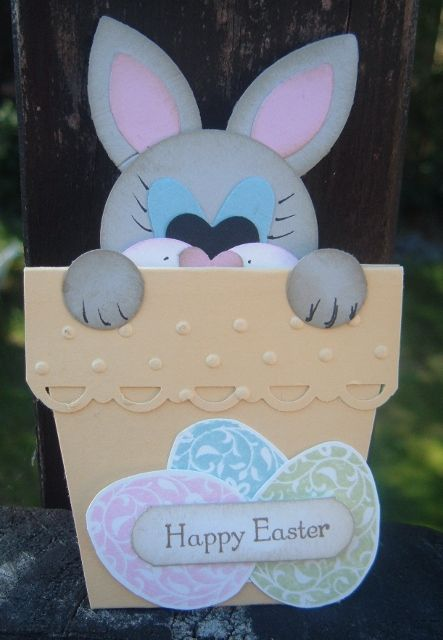 Easter Bunny Flower Pot Card