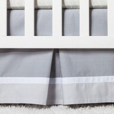 Crib Bedding Set Chevron 4pc - Cloud Island - Gray