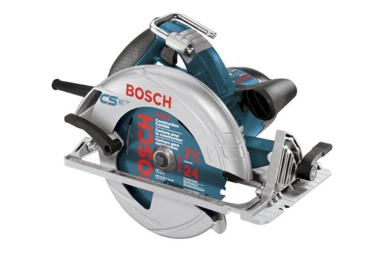 "Bosch Circular Saw Corded Portable 7-1/4"" (184mm) 15 Amp 24 Tooth Carbide Blade…"