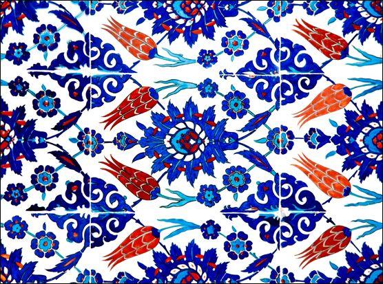 İznik Çini, Rüstem Paşa Camisi, İstanbul, Türkiye