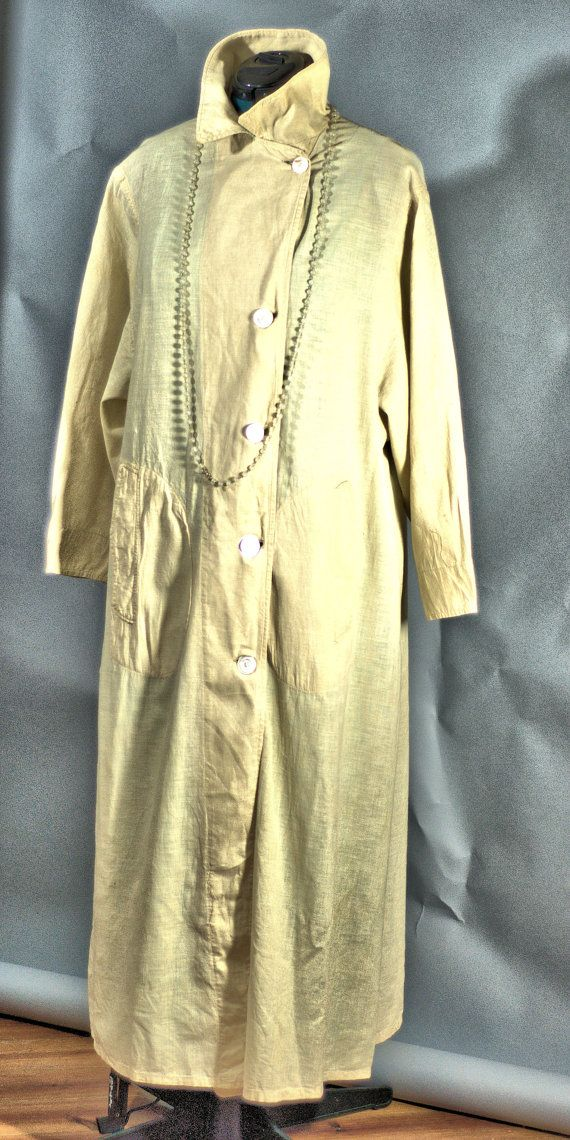Antique 1900 to 1915 National Cloak Suit Company Victorian Linen Duster Size XL