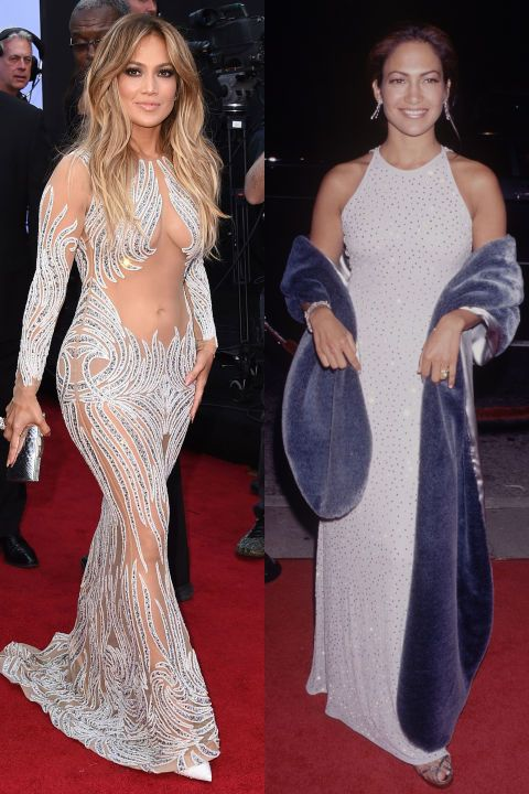 Jennifer Lopez made her red carpet debut in the '90s. See 44 other celebrities' first big events.