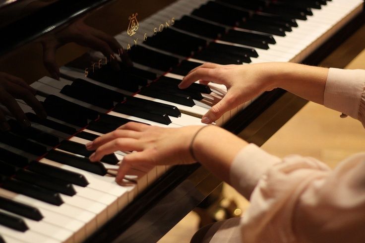 Piano with hands